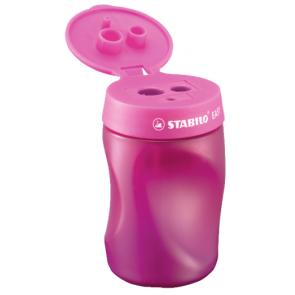 STABILO Ergonomischer Dosen-Spitzer für Linkshänder - EASYsharpener - 3 in1 pink