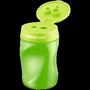 STABILO Ergonomischer Dosen-Spitzer für Rechtshänder- EASYsharpener - 3 in1 grün
