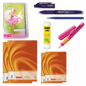 Schulbedarf Starter Paket Mädchen für die 2. Klasse - Schulsachen.de