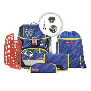 "Step By Step 2IN1 PLUS Schulranzen-Set ""Soccer Team"" 6-teilig Motiv Fußball Team 