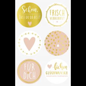 """Heyda Sticker """"Schön, dass Du da bist"""" 10 x 19 cm Sticker Ø 4 cm"""