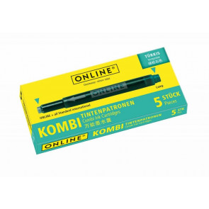 Online Tintenpatrone Kombi sortiert 5 Stück Türkis