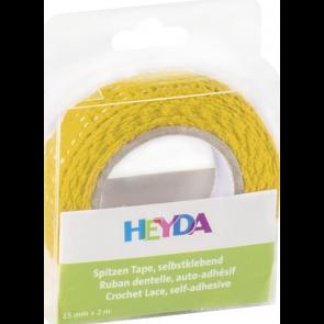 Heyda Spitzen Tape 2 m x 15 mm gelb