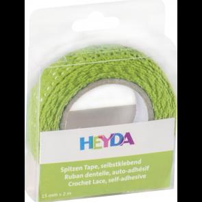 Heyda Spitzen Tape 2 m x 15 mm grün