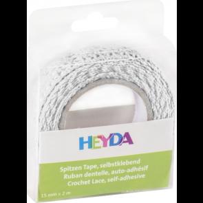 Heyda Spitzen Tape 2 m x 15 mm weiß