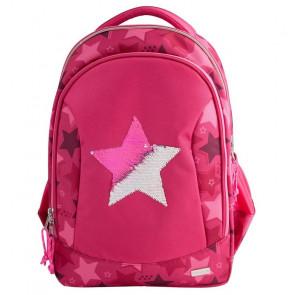 TOPModel Schulrucksack Streichpaillette Stern pink || Depesche 10722