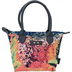 Trend LOVE Handtasche mit Pailletten dunkelblau