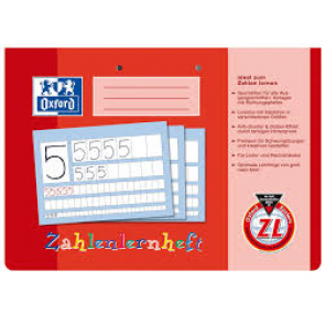 Oxford Zahlenlernheft DIN A4 quer 16 Blatt Lineatur ZL