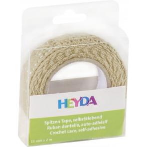 Heyda Spitzen Tape 2 m x 15 mm vanille