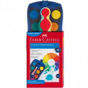 Faber-Castell Deckfarbkasten Connector 12 Farben Blau