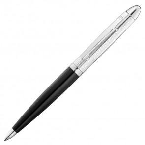 Waldmann Pocket Kugelschreiber Lack schwarz - Linien Design