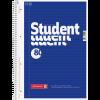 Brunnen Collegeblock Student DIN A4 Randlinie innen liniert blau