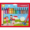 STABILO Gefederter Dreikant-Filzstift - Trio Scribbi - 14er Pack