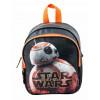 Star Wars Kindergartenrucksack orange grau mit Roboter BB8 Aufdruck