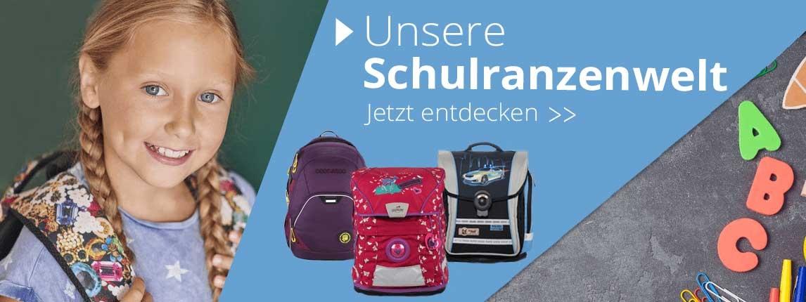 Die Schulranzenwelt auf Schulsachen.de. Viele Marken Ranzen von Scout, Mc Neill uvm. zu günstigen Preise.